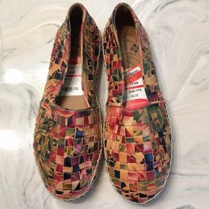 Patricia Nash Italian Leather Island Style Loafers